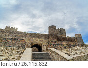 Купить «Entrance to Rabati Castle in Akhaltsikhe, Georgia», фото № 26115832, снято 29 сентября 2016 г. (c) Elena Odareeva / Фотобанк Лори