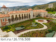 Купить «View on the garden in Rabati Castle in Akhaltsikhe, Georgia», фото № 26116508, снято 29 сентября 2016 г. (c) Elena Odareeva / Фотобанк Лори