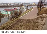 Городской пейзаж Нижнего Новгорода (2017 год). Стоковое фото, фотограф Юрий Леденцов / Фотобанк Лори