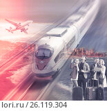 Купить «Traveling options for couples», фото № 26119304, снято 19 октября 2018 г. (c) Яков Филимонов / Фотобанк Лори