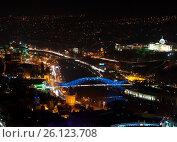 Купить «Panorama of night Tbilisi», фото № 26123708, снято 8 января 2016 г. (c) Давидич Максим / Фотобанк Лори
