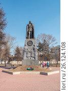 Памятник адмиралу Колчаку в центре Иркутска, фото № 26124108, снято 27 марта 2017 г. (c) Геннадий Соловьев / Фотобанк Лори