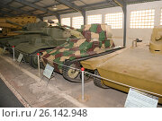 Купить «Легкий танк Vickers - Armstrong вооруженные силы Великобритании в Центральном музее бронетанкового вооружения и техники, Кубинка», фото № 26142948, снято 1 сентября 2015 г. (c) Pukhov K / Фотобанк Лори