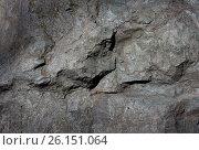 Stone rock wall crack texture background. Стоковое фото, фотограф Галина Жигалова / Фотобанк Лори