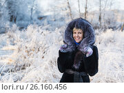 Купить «Winter landscape, river under the ice», фото № 26160456, снято 25 июня 2019 г. (c) Mikhail Starodubov / Фотобанк Лори