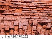 Купить «Брестская крепость. Фрагмент стены», фото № 26170252, снято 23 апреля 2017 г. (c) Дмитрий Грушин / Фотобанк Лори