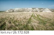 Купить «Донские меловые горы в Донском природном парке», фото № 26172928, снято 29 апреля 2017 г. (c) Матвей Солодовников / Фотобанк Лори