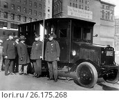 Купить «New York, New York: November 11, 1926 New York City Comptroller General Charles Berry inspects the new armored cars that will be used to transport the...», фото № 26175268, снято 30 апреля 2017 г. (c) age Fotostock / Фотобанк Лори