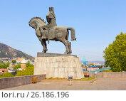 Купить «Памятник Вахтангу Горгасали. Тбилиси, Грузия», фото № 26186196, снято 29 апреля 2017 г. (c) Сергей Афанасьев / Фотобанк Лори