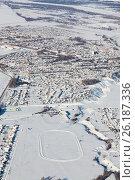 Купить «Город Дюртюли, Башкирия зимой. Вид сверху», эксклюзивное фото № 26187336, снято 4 февраля 2017 г. (c) Владимир Мельников / Фотобанк Лори