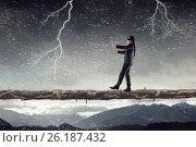 Купить «Overcome fear of failure . Mixed media», фото № 26187432, снято 28 мая 2010 г. (c) Sergey Nivens / Фотобанк Лори