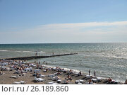 Купить «View of the beach in the Sochi, Russia», фото № 26189860, снято 23 сентября 2014 г. (c) Александр Карпенко / Фотобанк Лори