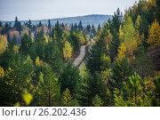 Осенний пейзаж. Стоковое фото, фотограф Александр Агафонов / Фотобанк Лори