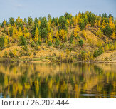 Осенний пейзаж на озере. Стоковое фото, фотограф Александр Агафонов / Фотобанк Лори