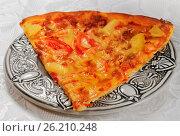 Купить «Italian food snack pizza», фото № 26210248, снято 7 декабря 2012 г. (c) ElenArt / Фотобанк Лори