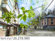 Весенний пейзаж на фоне недвижимости и неба. Стоковое фото, фотограф Сергеев Валерий / Фотобанк Лори