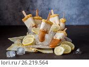 Купить «Lemon Iced Tea Cheesecake Popsicles», фото № 26219564, снято 10 мая 2017 г. (c) Татьяна Ворона / Фотобанк Лори