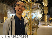 Купить «57th International Art Exhibition, Arsenale, China Pavillion, the artist Wu Jian'an ,Venice, ITALY-10-05-2017.», фото № 26240984, снято 10 мая 2017 г. (c) age Fotostock / Фотобанк Лори