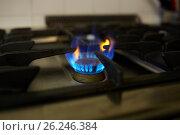 Купить «burning gas stove flame», фото № 26246384, снято 17 февраля 2017 г. (c) Syda Productions / Фотобанк Лори