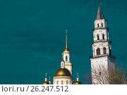 Купить «Невьянск . Наклонная башня Демидова и Спасо-Преображенский собор.», фото № 26247512, снято 2 февраля 2014 г. (c) Сергеев Валерий / Фотобанк Лори