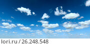 Купить «Blue sky background with clouds», фото № 26248548, снято 3 августа 2013 г. (c) Юрий Брыкайло / Фотобанк Лори