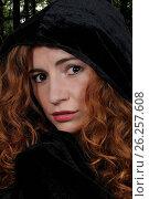 Купить «Woman wearing cloak», фото № 26257608, снято 18 ноября 2018 г. (c) easy Fotostock / Фотобанк Лори