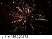 Купить «Салют 9 мая 2017 года. Москва», фото № 26260872, снято 9 мая 2017 г. (c) Алексей Сварцов / Фотобанк Лори