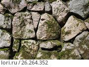 Фрагмент выложенной из камней стены. Текстура, фон. Стоковое фото, фотограф Ирина Горбачева / Фотобанк Лори