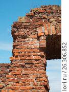 Купить «Брестская крепость. Фрагмент крепостных укреплений», фото № 26306852, снято 21 апреля 2017 г. (c) Дмитрий Грушин / Фотобанк Лори
