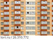 Купить «Close view on residental building», фото № 26310772, снято 9 июля 2016 г. (c) Илья Малов / Фотобанк Лори