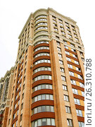 Купить «Close view on residental building», фото № 26310788, снято 9 июля 2016 г. (c) Илья Малов / Фотобанк Лори