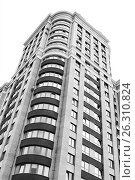 Купить «Close view on residental building», фото № 26310824, снято 9 июля 2016 г. (c) Илья Малов / Фотобанк Лори