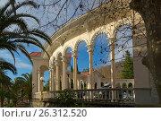 Купить «Абхазия, Город Гагра. Колоннада», фото № 26312520, снято 3 января 2017 г. (c) Валерий Ситников / Фотобанк Лори