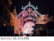 Купить «Winter Christmas festival in Moscow. Russia», фото № 26313096, снято 7 января 2016 г. (c) Liseykina / Фотобанк Лори