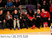 Купить «Celebrities spotted at the Lakers game. The Los Angeles Lakers defeated the Golden State Warriors by the final score of 112-95 at Staples Center Featuring...», фото № 26315520, снято 7 марта 2016 г. (c) age Fotostock / Фотобанк Лори