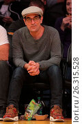 Купить «Celebrities spotted at the Lakers game. The Los Angeles Lakers defeated the Golden State Warriors by the final score of 112-95 at Staples Center Featuring...», фото № 26315528, снято 7 марта 2016 г. (c) age Fotostock / Фотобанк Лори