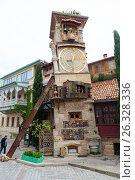 Купить «Часовая башня. Театр марионеток Резо Габриадзе, Тбилиси, Грузия», фото № 26328336, снято 4 мая 2017 г. (c) Сергей Афанасьев / Фотобанк Лори