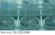 Купить «Ventilation on a roof», видеоролик № 26329048, снято 2 мая 2017 г. (c) Илья Шаматура / Фотобанк Лори