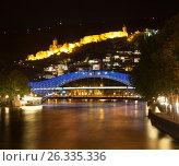 Купить «Ночной Тбилиси. Грузия», фото № 26335336, снято 4 мая 2017 г. (c) Сергей Афанасьев / Фотобанк Лори