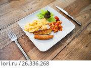 Купить «close up of food on plate», фото № 26336268, снято 15 февраля 2015 г. (c) Syda Productions / Фотобанк Лори