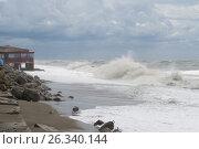 Бушующее море. Стоковое фото, фотограф Виктория Ратникова / Фотобанк Лори