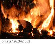 Кузнечный горн для нагрева металла при художественной ковке. Стоковое фото, фотограф Иван Орехов / Фотобанк Лори
