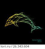 Abstract Dolphin. Vector. Стоковая иллюстрация, иллюстратор Юлия Дакалова / Фотобанк Лори