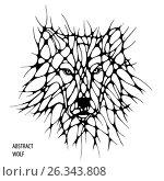 Abstract wolf. freehand drawing. tattoo. Стоковая иллюстрация, иллюстратор Юлия Дакалова / Фотобанк Лори