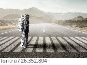 Купить «Astronaut in space suit», фото № 26352804, снято 24 марта 2014 г. (c) Sergey Nivens / Фотобанк Лори