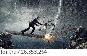 Купить «Overcome fear of failure . Mixed media», фото № 26353264, снято 17 марта 2014 г. (c) Sergey Nivens / Фотобанк Лори