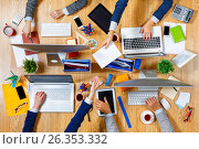 Купить «Interacting as team for better results», фото № 26353332, снято 20 сентября 2016 г. (c) Sergey Nivens / Фотобанк Лори