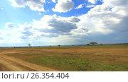 Купить «village huts in savanna at africa», видеоролик № 26354404, снято 22 апреля 2017 г. (c) Syda Productions / Фотобанк Лори