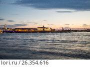 Вид на стрелку Васильевского острова. Санкт-Петербург, фото № 26354616, снято 19 мая 2017 г. (c) Юлия Бабкина / Фотобанк Лори