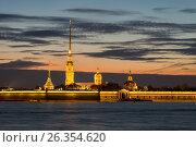 Петропавловская крепость, вечер. Санкт-Петербург, фото № 26354620, снято 19 мая 2017 г. (c) Юлия Бабкина / Фотобанк Лори